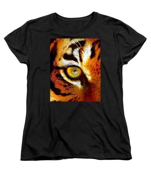 Tigers Eye Women's T-Shirt (Standard Cut) by Marlo Horne