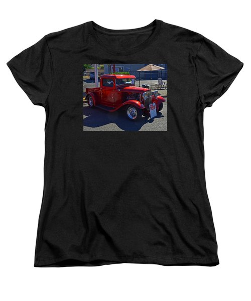 Women's T-Shirt (Standard Cut) featuring the photograph 1932 Ford Pick Up by Tikvah's Hope
