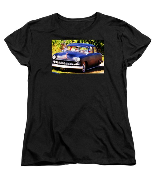 Women's T-Shirt (Standard Cut) featuring the photograph 1950 Ford  Vintage by Peggy Franz