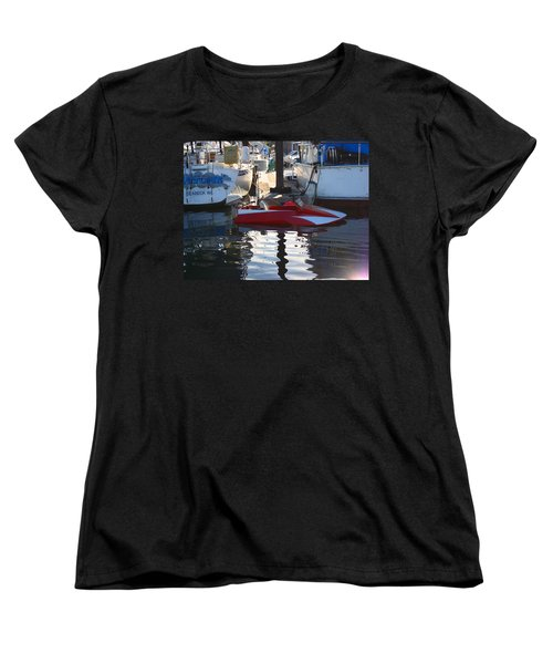 Women's T-Shirt (Standard Cut) featuring the photograph 1950's Custom Hydroplane by Kym Backland