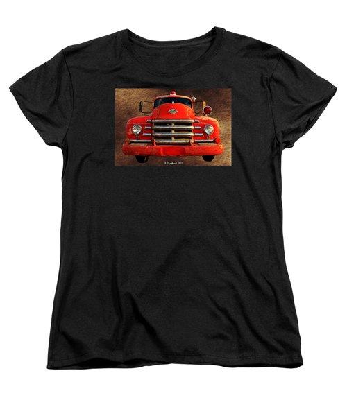 1955 Diamond T Grille - The Cadillac Of Trucks Women's T-Shirt (Standard Cut) by Betty Northcutt