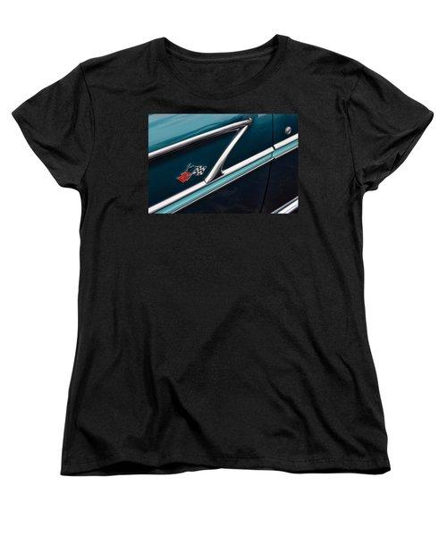 Women's T-Shirt (Standard Cut) featuring the photograph 1958 Chevrolet Bel Air by Gordon Dean II