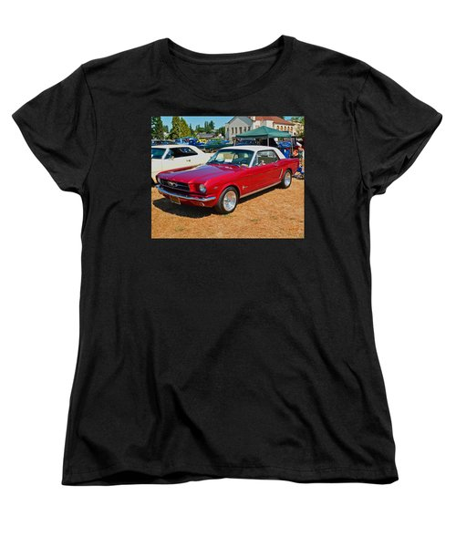 1964 Ford Mustang Women's T-Shirt (Standard Cut) by Tikvah's Hope