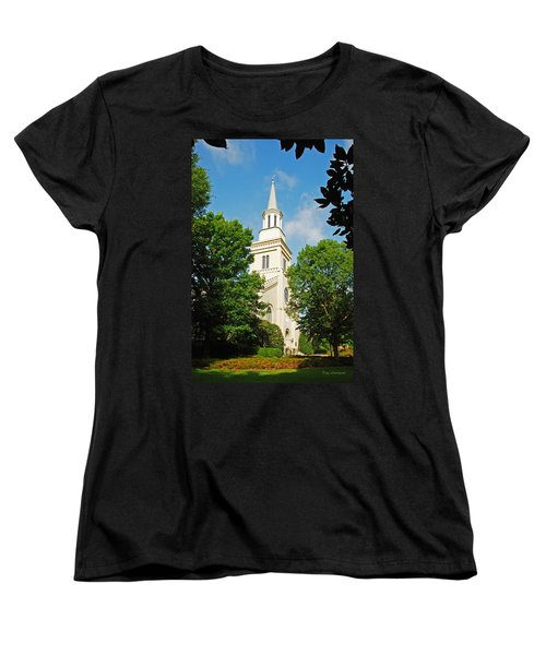 Women's T-Shirt (Standard Cut) featuring the photograph 1st Presbyterian Church by Kay Lovingood
