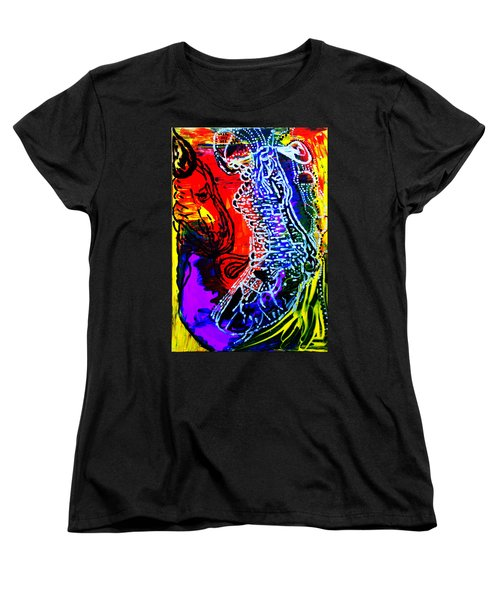 Women's T-Shirt (Standard Cut) featuring the painting Dinka Bride by Gloria Ssali