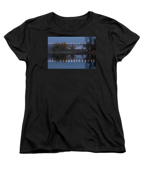 Women's T-Shirt (Standard Cut) featuring the photograph Ford Parkway Bridge by Tom Gort