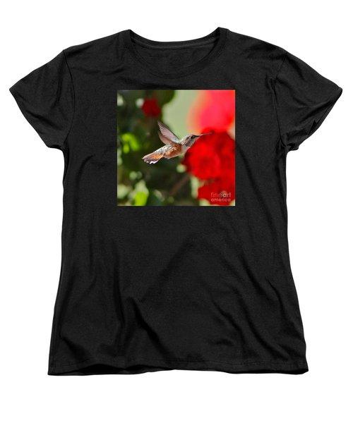 Hummingbird 3 Women's T-Shirt (Standard Cut) by Pamela Walrath