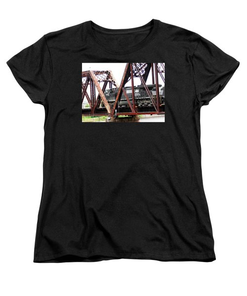 Women's T-Shirt (Standard Cut) featuring the photograph 9215 Southern Cargo Train by Ester  Rogers