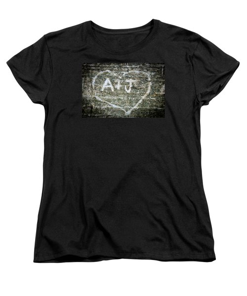 Women's T-Shirt (Standard Cut) featuring the photograph A And J by Julia Wilcox