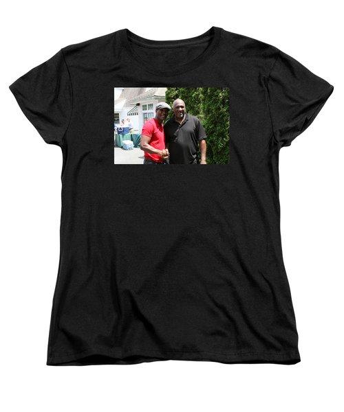 Women's T-Shirt (Standard Cut) featuring the photograph A Friend Bernard Hopkins by Paul SEQUENCE Ferguson             sequence dot net