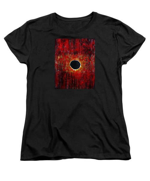 Women's T-Shirt (Standard Cut) featuring the painting A Long Time Coming by Michael Cross