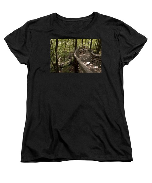Women's T-Shirt (Standard Cut) featuring the photograph A Long Way Down by Jeannette Hunt