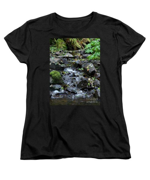 Women's T-Shirt (Standard Cut) featuring the photograph A Peaceful Stream by Chalet Roome-Rigdon