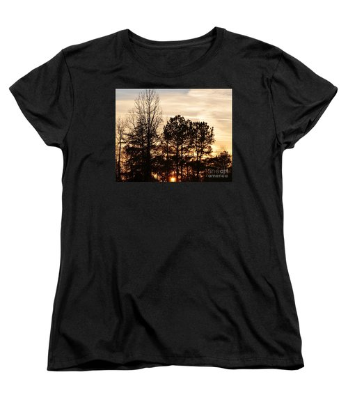 A Winter's Eve Women's T-Shirt (Standard Cut) by Maria Urso