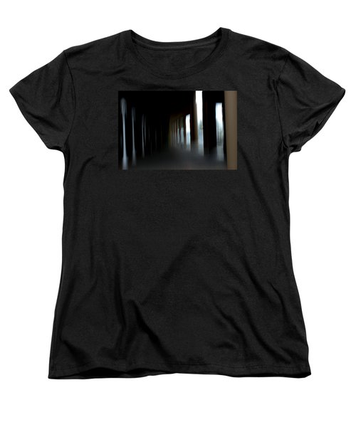 Women's T-Shirt (Standard Cut) featuring the mixed media Abyss by Terence Morrissey