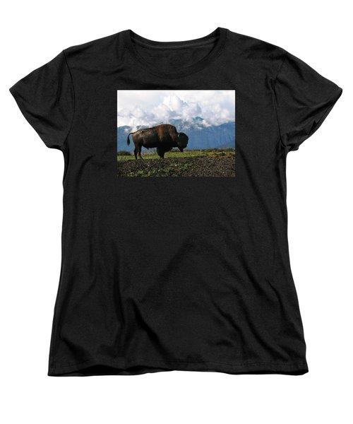 Alaskan Buffalo Women's T-Shirt (Standard Cut) by Katie Wing Vigil