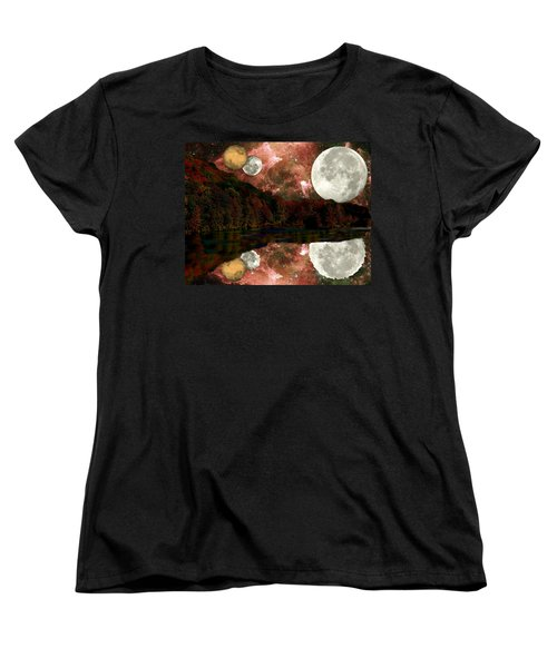 Alien World Women's T-Shirt (Standard Cut) by Sarah McKoy