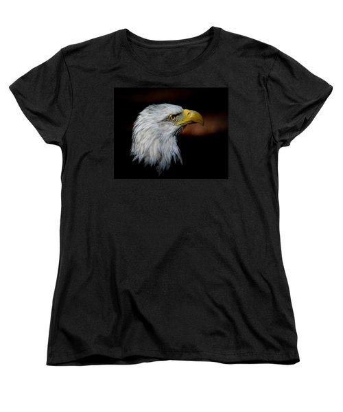American Bald Eagle Women's T-Shirt (Standard Cut) by Steve McKinzie