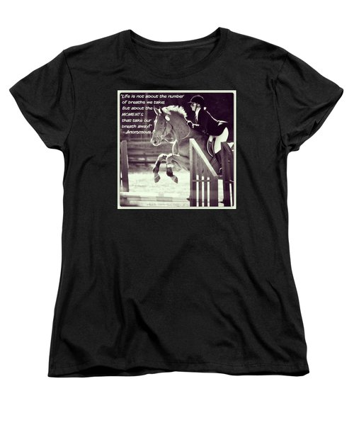 Andy And Chrissy Caber Farm Horse Women's T-Shirt (Standard Cut) by Anna Porter