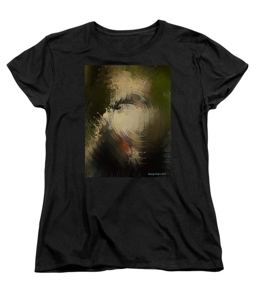 Women's T-Shirt (Standard Cut) featuring the painting Angry Monkey by George Pedro