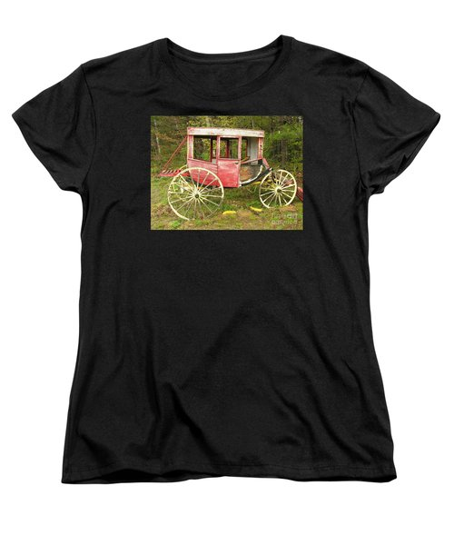 Women's T-Shirt (Standard Cut) featuring the photograph Old Horse Drawn Carriage by Sherman Perry