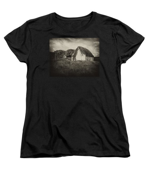 Women's T-Shirt (Standard Cut) featuring the photograph Aran Island Home by Hugh Smith
