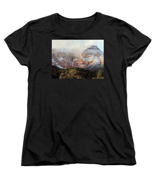 Arizona Snowstorm Women's T-Shirt (Standard Cut) by Judy Wanamaker