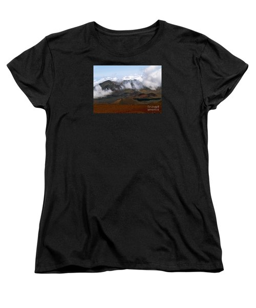 At The Rim Of The Crater Women's T-Shirt (Standard Cut) by Patricia Griffin Brett