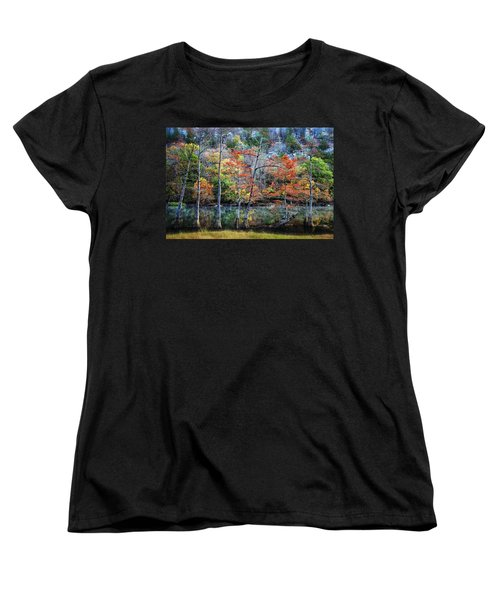 Women's T-Shirt (Standard Cut) featuring the photograph Autumn At Beaver's Bend by Tamyra Ayles