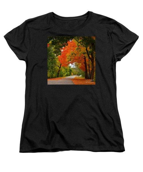 Autumn Canopy Women's T-Shirt (Standard Cut) by Sue Stefanowicz