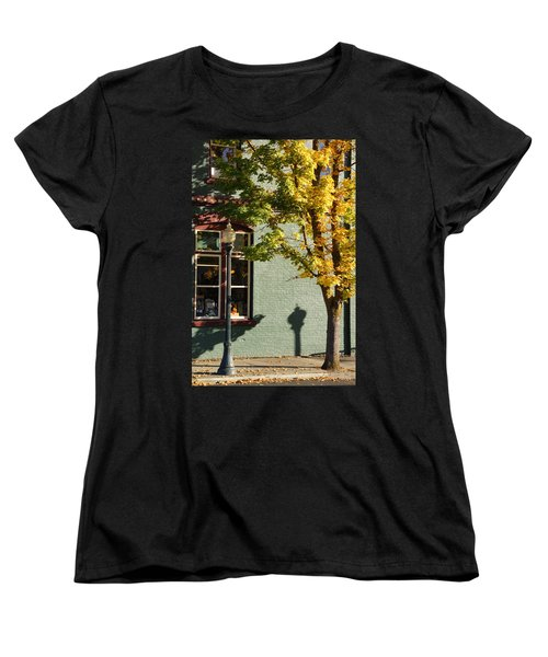 Autumn Detail In Old Town Grants Pass Women's T-Shirt (Standard Cut) by Mick Anderson