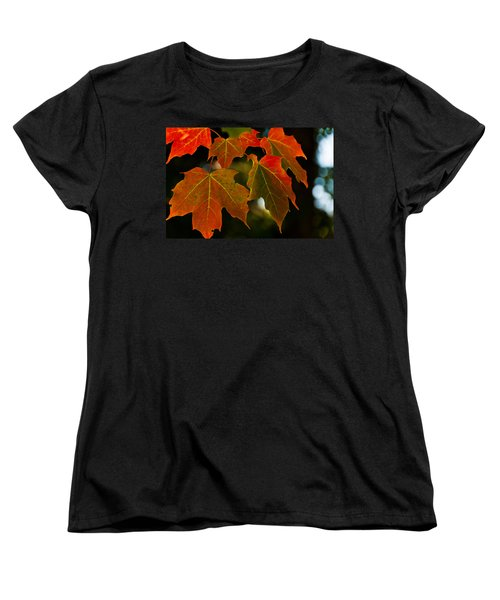 Women's T-Shirt (Standard Cut) featuring the photograph Autumn Glory by Cheryl Baxter