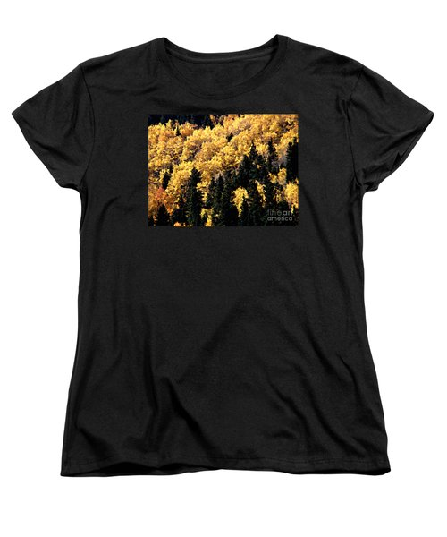 Autumn In Colorado Painting Women's T-Shirt (Standard Cut) by Donna Greene