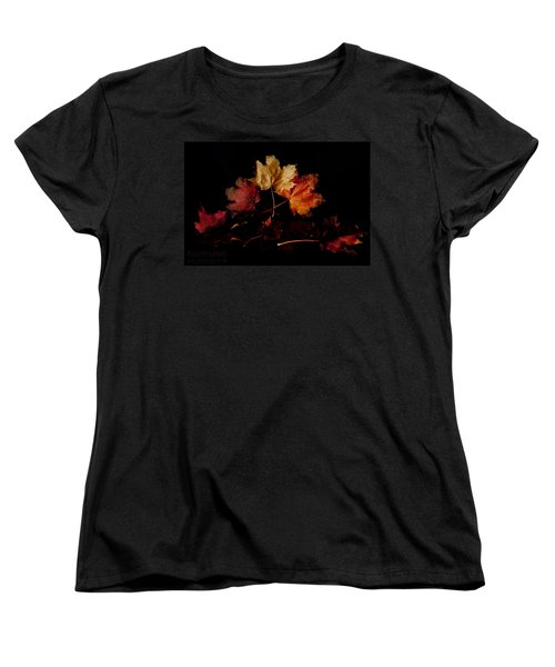 Women's T-Shirt (Standard Cut) featuring the photograph Autumn Leaves by Beverly Cash