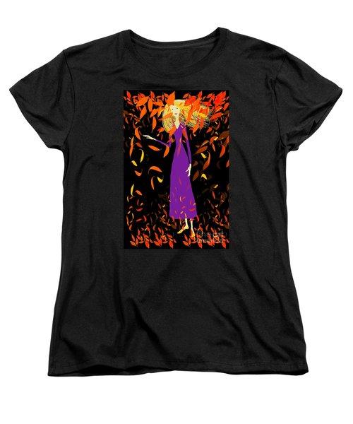Autumn Spirit Women's T-Shirt (Standard Cut) by Barbara Moignard