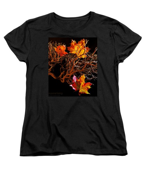 Women's T-Shirt (Standard Cut) featuring the photograph Autumnal Feelings by Beverly Cash
