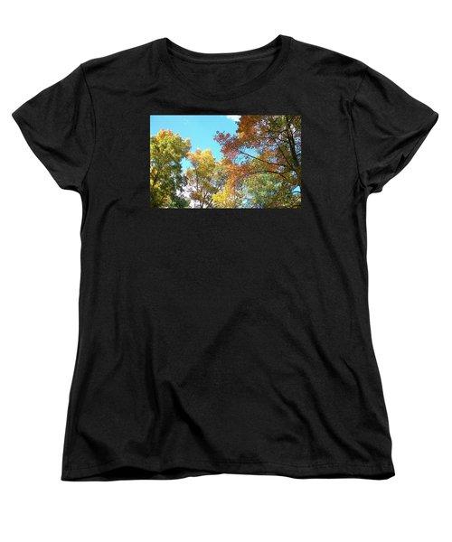 Women's T-Shirt (Standard Cut) featuring the photograph Autumn's Vibrant Image by Pamela Hyde Wilson