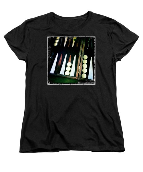 Women's T-Shirt (Standard Cut) featuring the photograph Backgammon Anyone by Nina Prommer