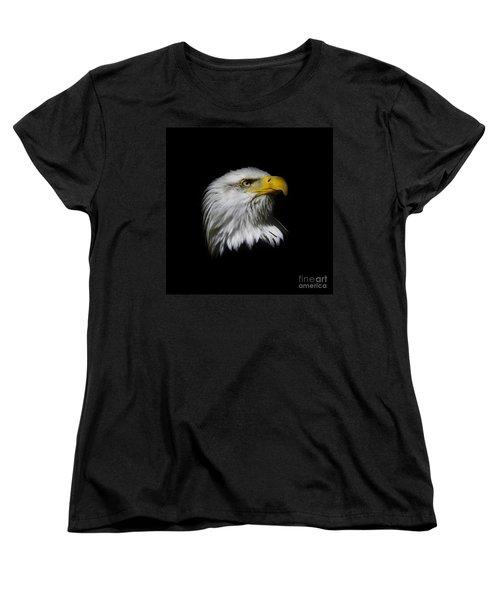 Bald Eagle Women's T-Shirt (Standard Cut) by Steve McKinzie