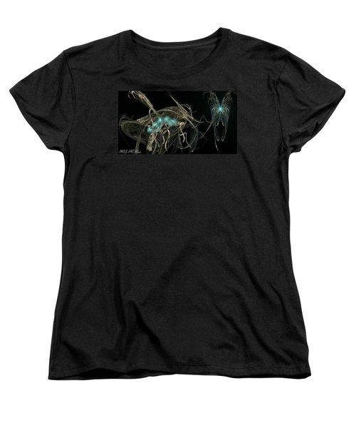 Ballerina Butterfly Women's T-Shirt (Standard Cut) by Kelly Turner