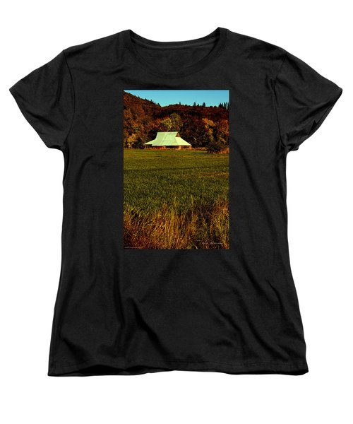 Barn In The Style Of The 60s Women's T-Shirt (Standard Cut) by Mick Anderson