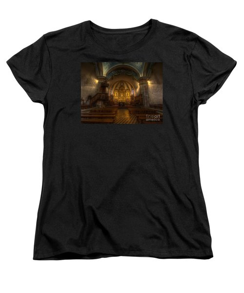 Baroque Church In Savoire France Women's T-Shirt (Standard Cut) by Clare Bambers
