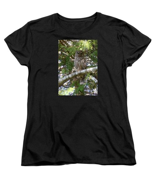 Women's T-Shirt (Standard Cut) featuring the photograph Barred Owl  by Francine Frank