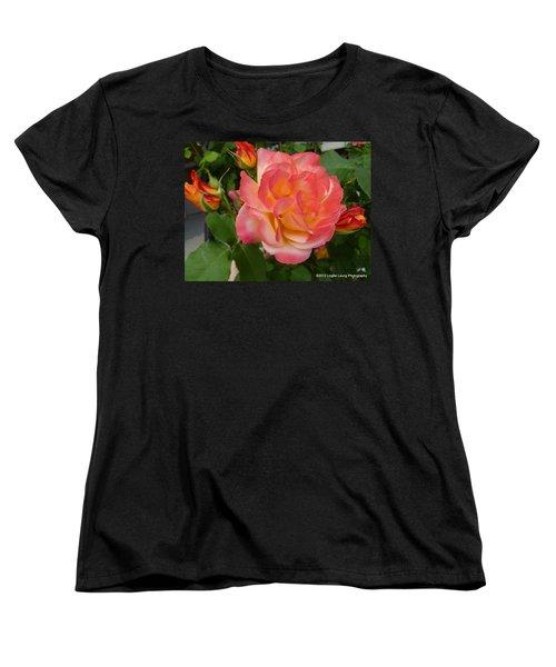 Women's T-Shirt (Standard Cut) featuring the photograph Beautiful Rose With Buds by Lingfai Leung