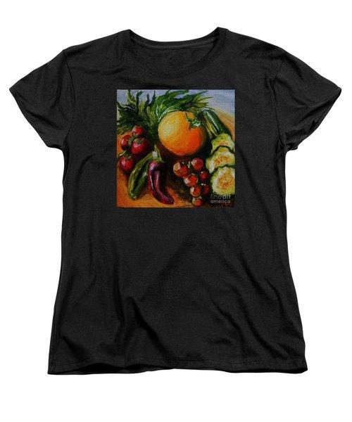 Beauty Of Good Eats Women's T-Shirt (Standard Cut) by Karen  Ferrand Carroll