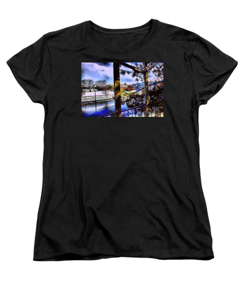Women's T-Shirt (Standard Cut) featuring the mixed media Beaverton  H.s. Winter 2011 by Terence Morrissey