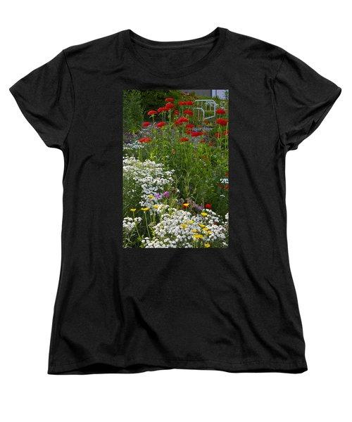 Bed Of Flowers Women's T-Shirt (Standard Cut) by Johanna Bruwer