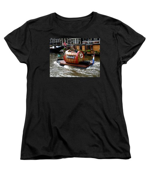 Beer Boat Women's T-Shirt (Standard Cut) by Lainie Wrightson
