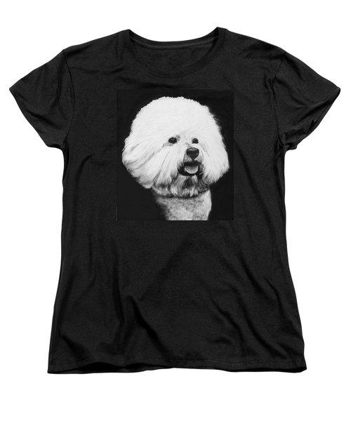 Bichon Frise Women's T-Shirt (Standard Cut) by Rachel Hames