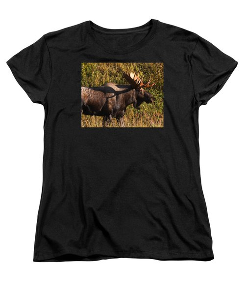 Women's T-Shirt (Standard Cut) featuring the photograph Big Bull by Doug Lloyd